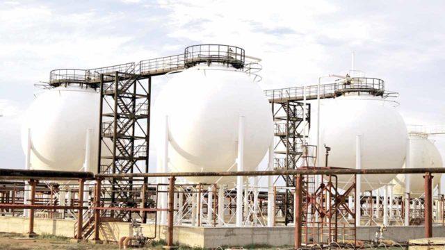 Gas storage plant