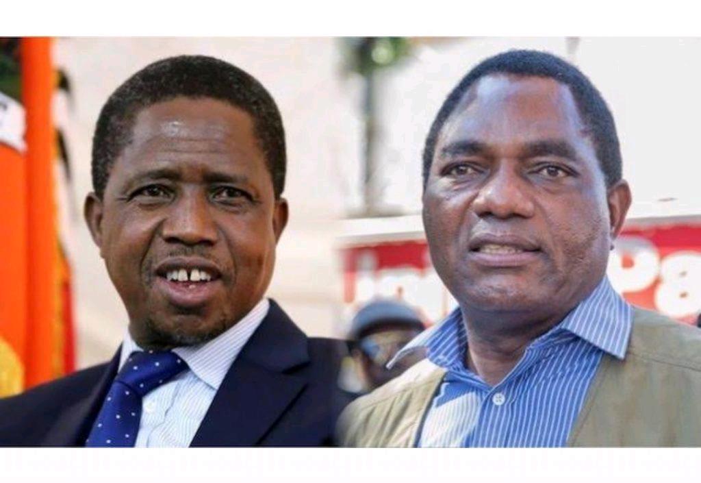 Hakainde Hichilema and Edgar Lungu