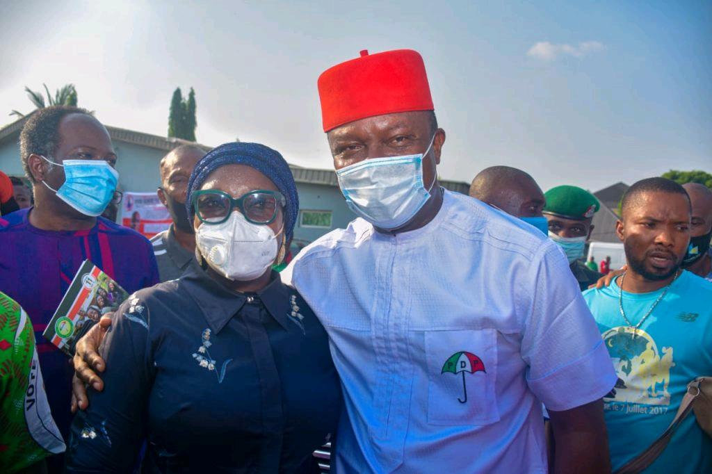 Senator Uche Ekwunife and Valentine Ozigbo