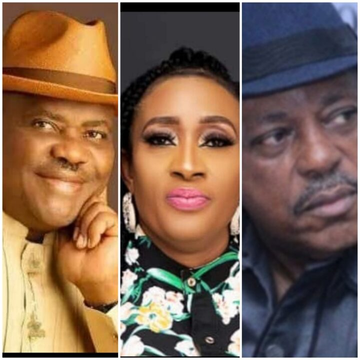 Governor Nyesom Wike, Obiaruko and PDP Chairman Secondus