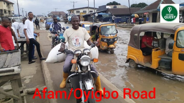 Deplorable Oyigbo-Afam Road in Rivers State