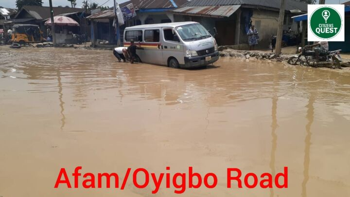 Deplorable state of Oyigbo-Afam Road in Rivers State