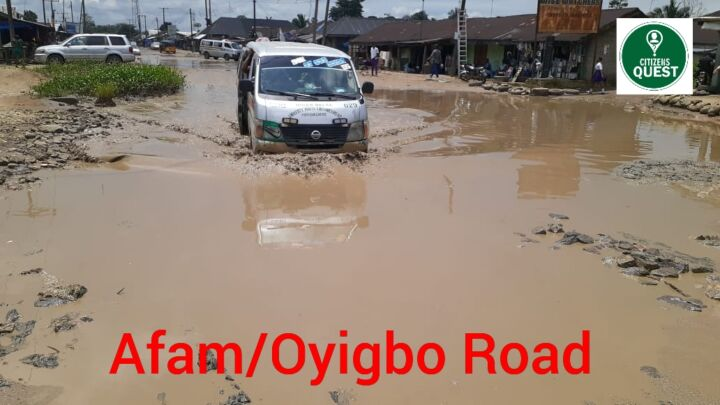 Oyigbo-Afam Road in Rivers State